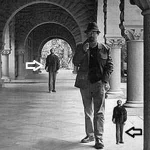 Iluzia Ponzo 3