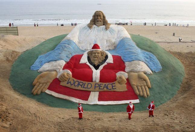 Isus Hristos și Moș Crăciun