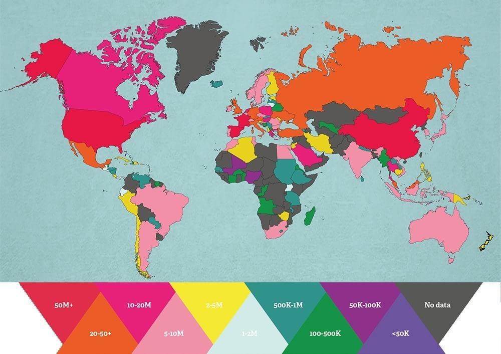 Cele mai vizitate țări