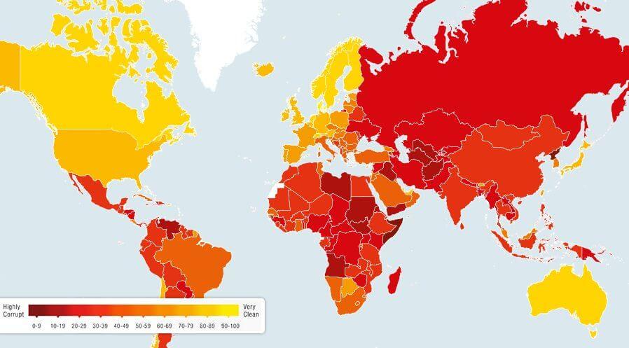 Cele mai corupte țări