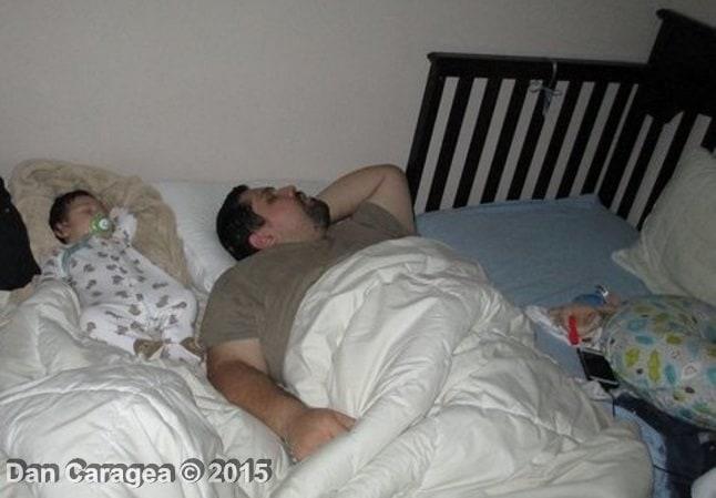 Tați dormind cu copii 4