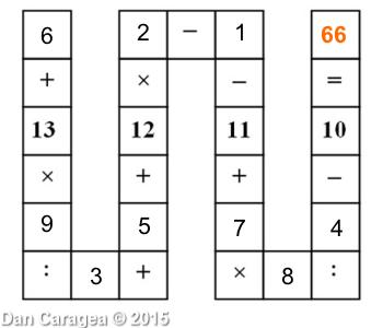 Soluția testului de perspicacitate matematică - Aritmetică în șir - rezolvare