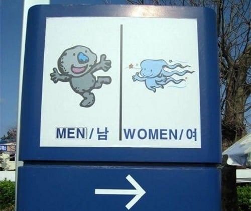 Semn toaletă China