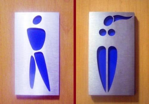 Semn toaletă Danemarca
