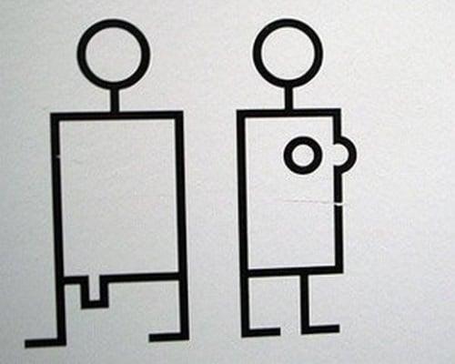 Semn toaletă Elveția