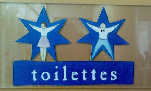 Semn toaletă Franța 1