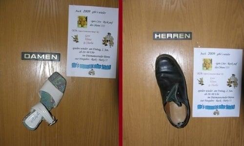 Semn toaletă Germania 1