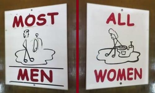 Semn toaletă SUA 2