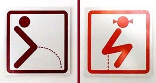 Semn toaletă Suedia