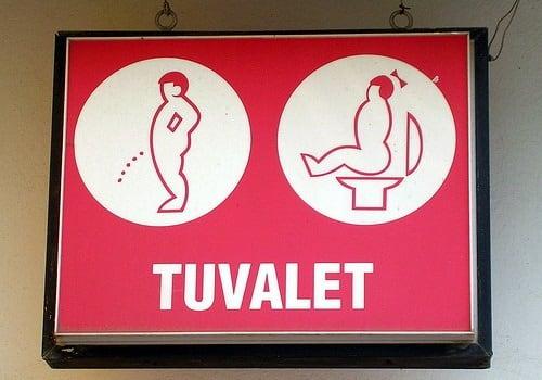 Semn toaletă Turcia
