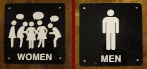 Semne pentru toaletă realiste