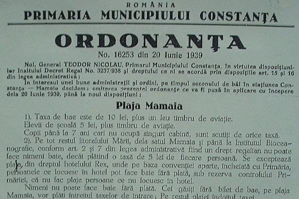 Plajă la Constanța-Mamaia acum 80 de ani